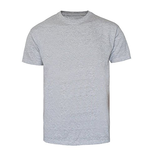 T-Shirt - Gildan (Premium Cotton) grau / Sport Grey (Heather) (M)