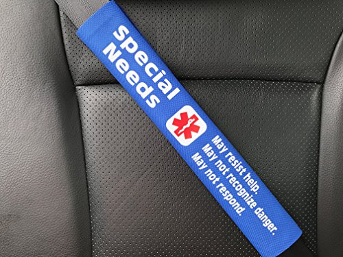 Special Seat - Special Needs Medical Alert Seat Belt Cover (Royal Blue)