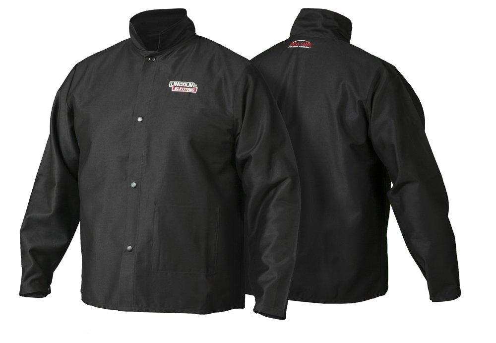 Lincoln Electric Premium Flame Resistant Cotton Welding Jacket   Black   Medium   K2985-M
