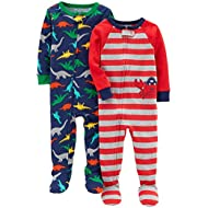 Baby Boys' 2-Pack Cotton Footed Pajamas