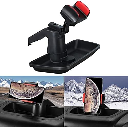 BULYZER Dash Multi-Mount Phone Holder Kit for 2011-2018 Jeep Wrangler JK JKU Interior Accessories Storage Box Organizer for Cell Phones
