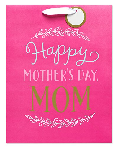 American Greetings Medium Mothers Day Gift Bag, Pink Happy Mothers Day