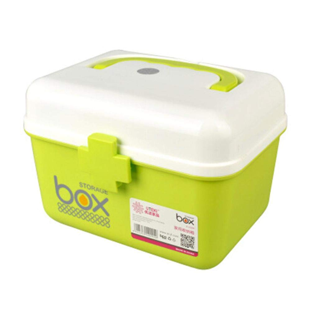 Home-Travel Portable Medicine Cabinet First-aid Case Storage Box Pill Box Green
