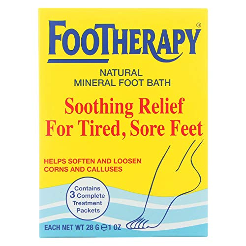 FooTherapy Natural Mineral Foot Bath, Soothing Relief For Tired, Sore Feet, 3 packets (Pack of 12) ()