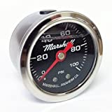 Marshall Instruments LB00100 Fuel Pressure Gauge