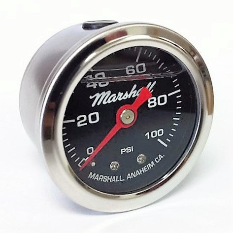 Marshall Instruments LB00100 Liquid Filled Fuel Pressure Gauge