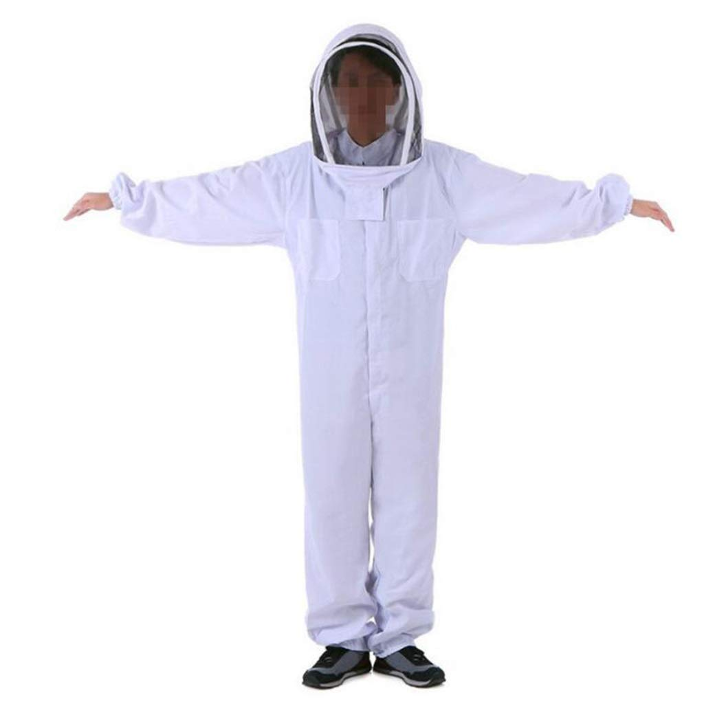 HZTWS Overall Protective Safety Work Space Suit Bee Cotton Cloth Thick White Bee Protection Products Conjoined Protective Clothing (Size : XXL) by HZTWS