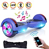 UNI-SUN 6.5' Hoverboard for Kids, Two Wheel Electric Scooter, Self Balancing Hoverboard with Bluetooth and LED Lights for Adults, UL 2272 Certified Hover Board(Ultimate Blue
