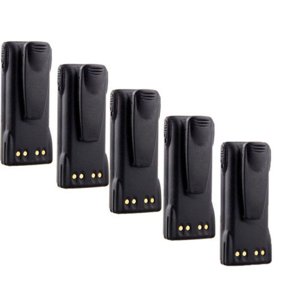 7.4v 1600mAh Ni-MH HNN9013 HNN9013B HNN9013DR Battery for MOTOROLA HT750 HT1250 MTX850 MTX950 (5 Pack)