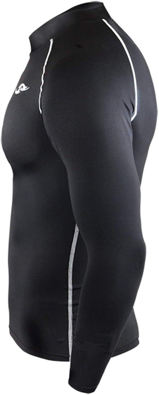 3XL Take Five Skin Tight Compression Base Layer Black Running Shirt Mens Womens S 3XL