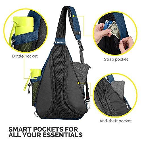 OutdoorMaster Sling Bag - Crossbody Backpack for Women   Men - Import It All 6b7528781a2dd