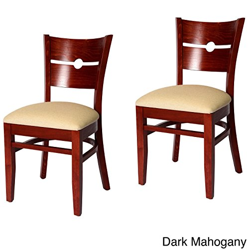 Beechwood Mountain Coin Back Chairs (Set of 2) Brown Mahogany Finish