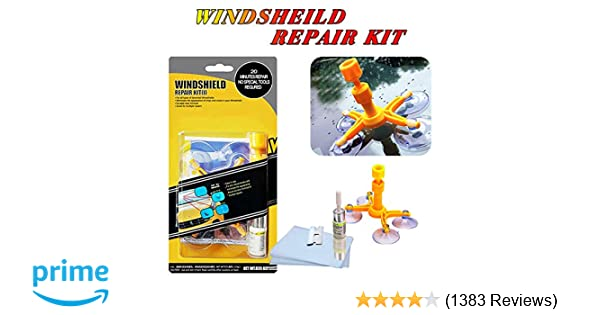 Yoohe Car Windshield Repair Kit Windshield Chip Repair Kit With Windshield Repair Resin For Fix Auto Glass Windshield Crack Chip Scratch