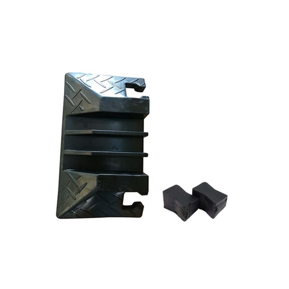 2pcs Cable Ramp End Caps - Finish Pieces for Pyle PCBLCO105 Cable Protector Cover Ramp - Pyle PCBLEN105ENDCP01