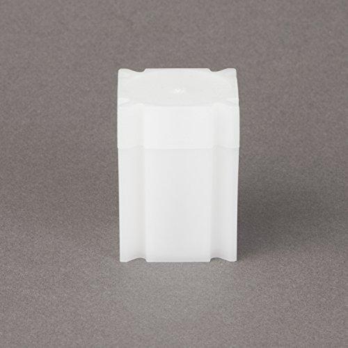 (5) Coinsafe Brand Square White Plastic (Half Dollar) Size Coin Storage Tube Holders