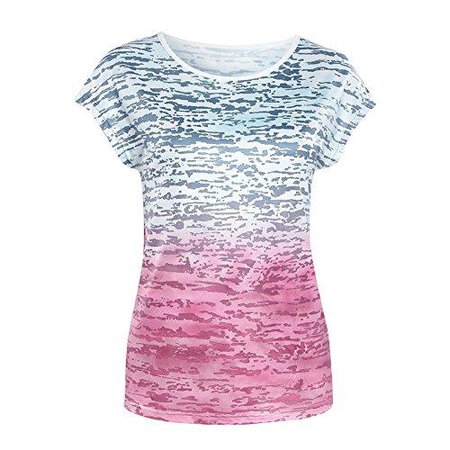 Balai Camicia della camicetta superiore allentata della camicia del partito di V del partito delle donne casuali floreali