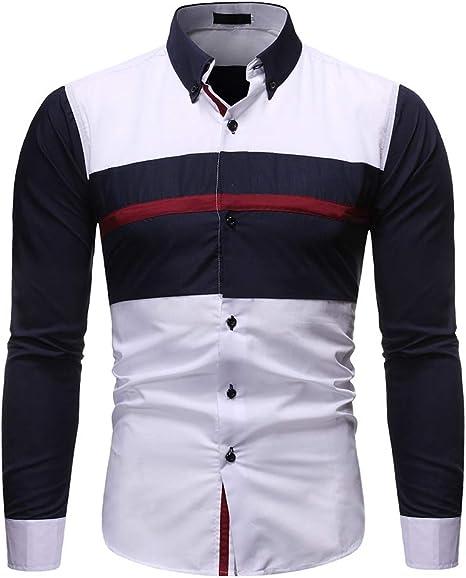 Camisa de hombre a juego con rayas delgadas de manga larga ...