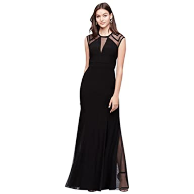 65eb184d9 Illusion Jersey Mermaid Gown with Keyhole Back Style 21566 at Amazon  Women's Clothing store: