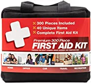 M2 BASICS 300 Piece (40 Unique Items) First Aid Kit | Emergency Medical Supply | for Home, Office, Outdoors, C