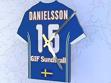 Sueco Allsvenskan fotbollsallsvenskan – cualquier nombre y número – Camiseta  de fútbol reloj – cualquier nombre 799bf3e6b75b9