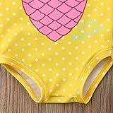 Mornbaby Baby Girl Swimsuit Pineapple Backless
