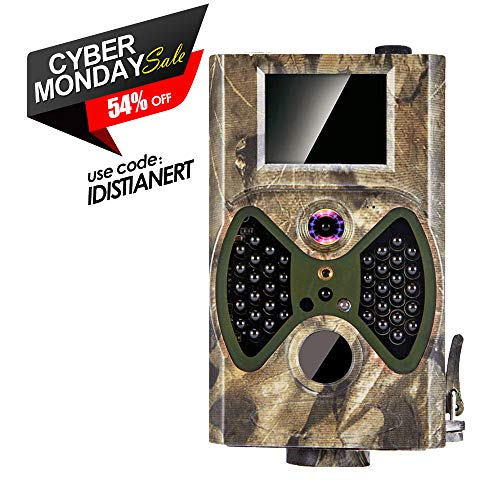 Trail Camera, 2018 Upgraded Distianert 720P 12MP Hunting Game Camera, Wildlife Camera with Upgraded 850nm IR LEDs Night Vision 65ft, IP66 for Home Security Wildlife Monitoring/Hunting Review