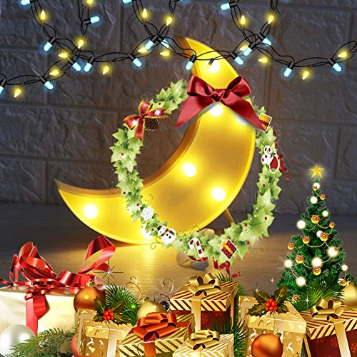 Fy-light Crescent Moon Light Night Light Decorative LED Crescent Moon Marquee Sign Nursery Night Lamp Gift for Kids Room,Living Room,Bedroom (Yellow)