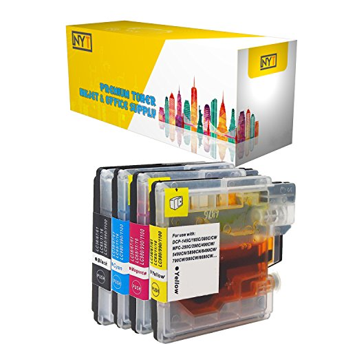 - New York Toner New Compatible 4 Pack LC61 BK LC61 Y / LC65Y LC61 M / LC65M LC61 C / LC65C High Yield Inkjet For Brother MFC MultiFunction Printers : MFC-250C. -- Black Cyan Magenta Yellow