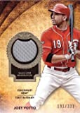 2017 Topps Tier One Relics #T1R-JV Joey Votto Game Worn Cincinnati Reds Jersey Baseball Card - Only 331 made!