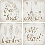 CoasterStone Wild at Heart Absorbent Coasters