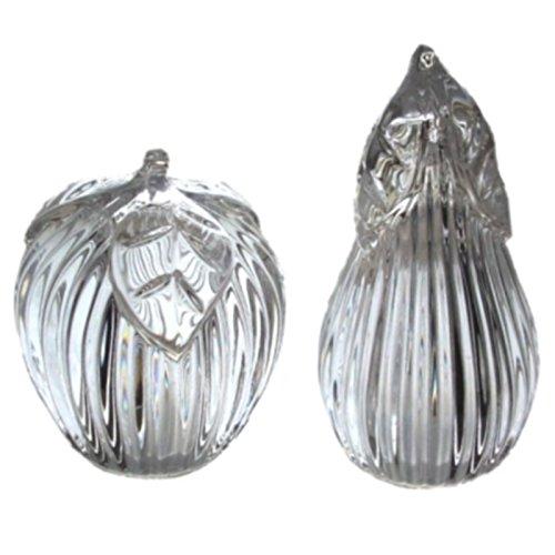 Full Lead Crystal Apple & Pear Salt & Pepper Set from Gorham