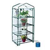 Yardeen YOSEMITE 4 Tiers Portable Greenhouse Small Backyard Extended 27″ Long x 18″ Wide x 63″ High