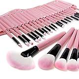 econoLED Professional 32PCS Pink Makeup Brushes Kit Cosmetic Make Up Tool Set Eyeshadow, Eyebrow, Eyelash, Eyeliner, Lip, Powder, Blush, Face, Concealer, Foundation, Blusher Brush