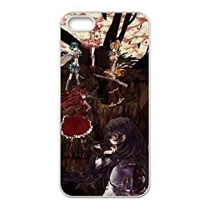 Special Design Cases iPhone 5, 5S Cell Phone Case White puella magi madoka magica anime Grwdcv Durable Rubber Cover