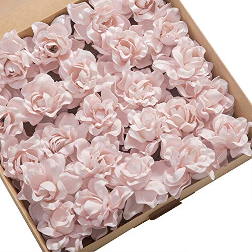 Ling's moment Artificial Flower 25pcs Baby Pink Gardenias Flowers w/Stem for DIY Wedding Bouquets Centerpieces Arrangements Party Baby Shower Home Decorations from Ling's moment