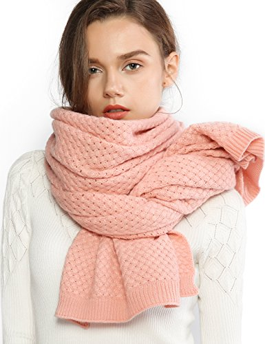 Thick Cable Knit - Chunky Knit Scarfs for Women Thick Cable Shawls Wrap Soft Warm Winter Long Large