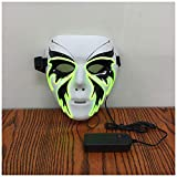 Mask YN Creative Street Dance Butterfly Butterfly V-shaped Glow Halloween Luminous Ghost Dance Adult Men And Women El Fluorescent