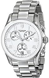 Victorinox Men's 241538 Chrono Classic Analog Display Swiss Quartz Silver Watch