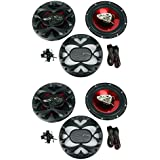 4) New BOSS CH6530 6.5 3-Way 600W Car Audio Coaxial Speakers Stereo Red
