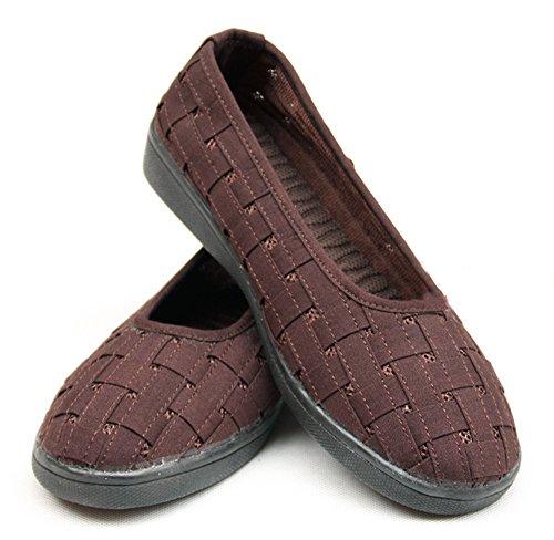 zooboo Monje Shaolin Unisex Tejido de zapatos de artes marciales Kung Fu Zapatillas Marrón - marrón