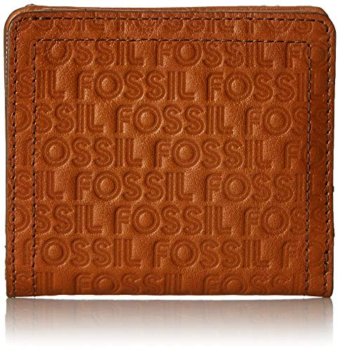 Fossil Embossed Wallet - Fossil Logan Small RFID Bifold Tan Embossed