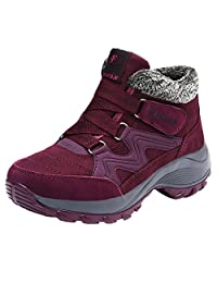 GOMNEAR Women Snow Boots Outdoor Warm Lined Short Ankle Boots Winter Casual Shoes