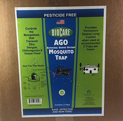 - BioCare | Superior AGO Mosquito Traps (Contains 2 Complete Traps) | Non-Toxic & Pesticide Free | Child & Pet Friendly| Made in USA