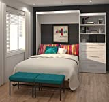 """Bestar Furniture 26881-17 Pur 101"""" Queen Wall Bed Kit Including Three Drawers with Simple Pulls in"""