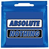 Absolute Nothing Funny Novelty Gifts Item for Him or Her - 4 Fox Sakes - Gag Gift for Men, Women, Brother, Sister, Teen, Uncle, Best Friend, Boyfriend, Girlfriend, Husband, Wife, Prank (ABN-BW-1PACK)