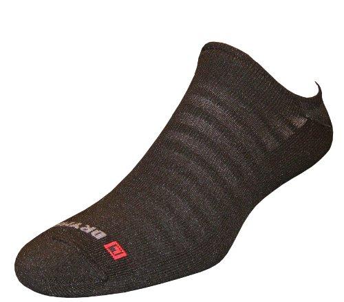 Drymax Run Hyper Thin No Show Socks, Black, Medium