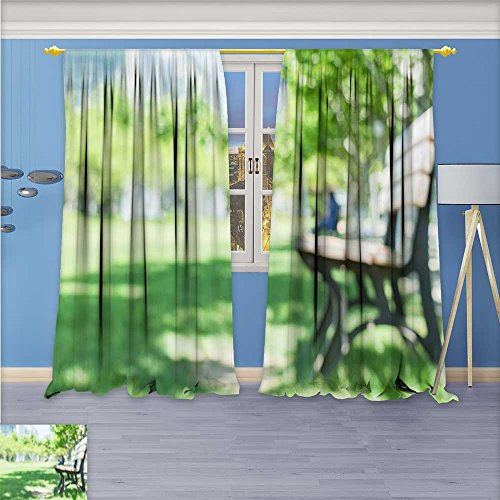 Boulevard Dining Room - Printsonne Solid Grommet top Thermal Insulated Window Blackout Curtains Graduation season with campus Boulevard for Dining Room 120W x 96L Inch