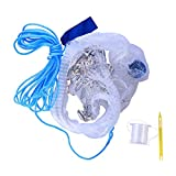 LIOOBO Mesh Trap Net,Foldable Bait Cast Portable Fishing Landing Net Shrimp Cage for Fish Lobster Prawn Minnow Crayfish Crab with Hand Rope Floating Circle