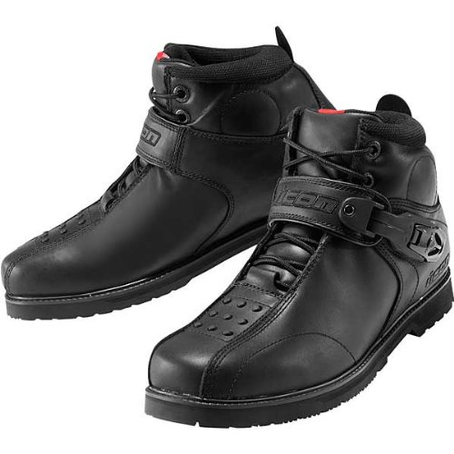 Icon Super Duty 4 Men's Leather On-Road Motorcycle Boots - Black / Size 10