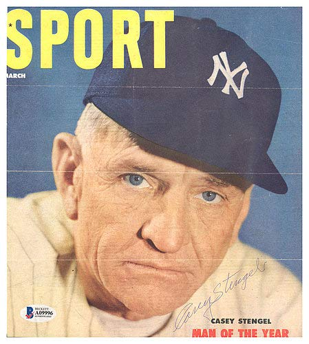 (Casey Stengel Autographed Signed Sport Magazine Cover New York Yankees - Beckett Authentic)